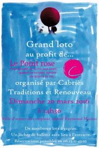 Affiche Loto du 20 mars 2016