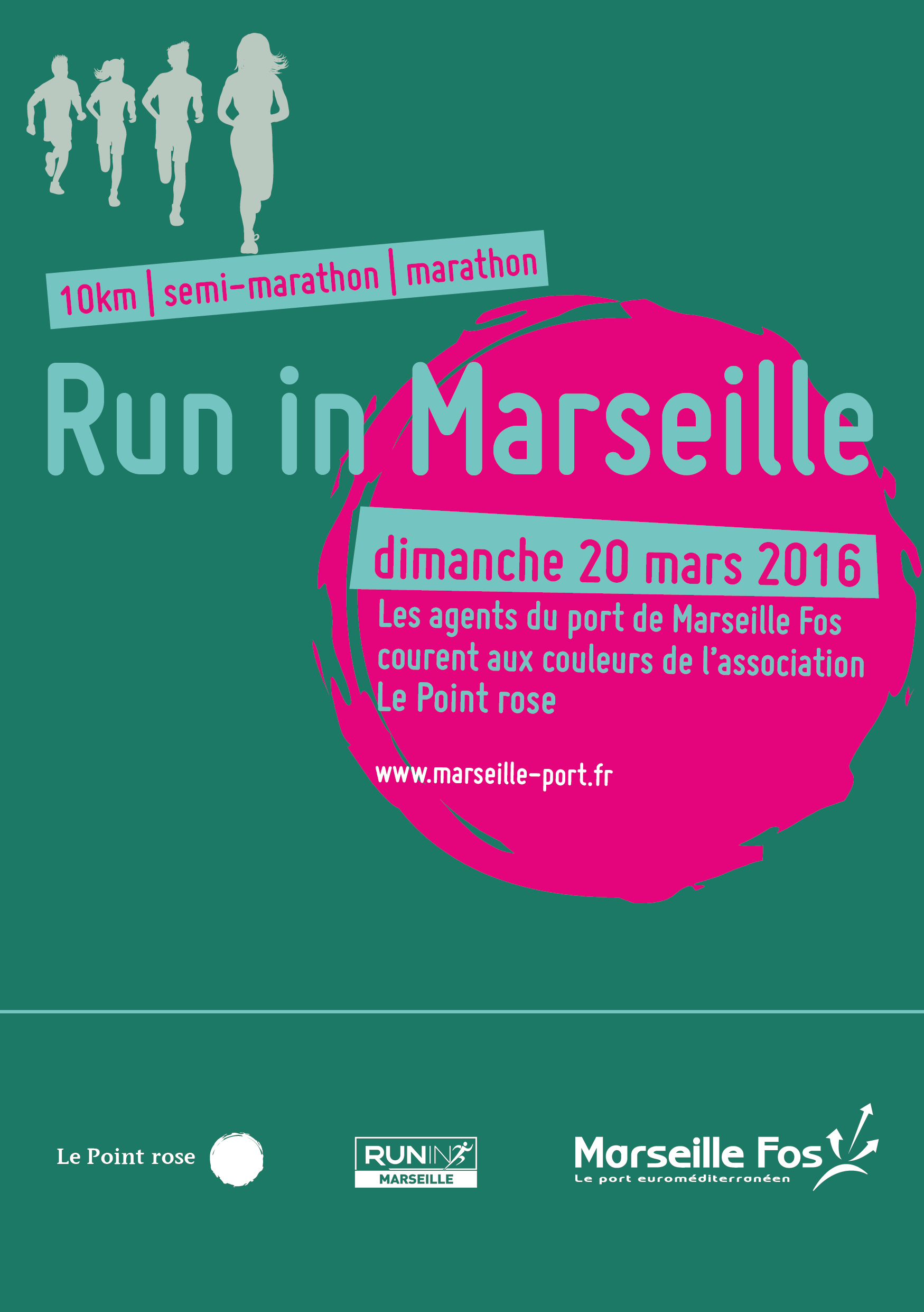 Run In Marseille : L'engagement du Port Marseille Fos et de ses salariés pour Le Point rose