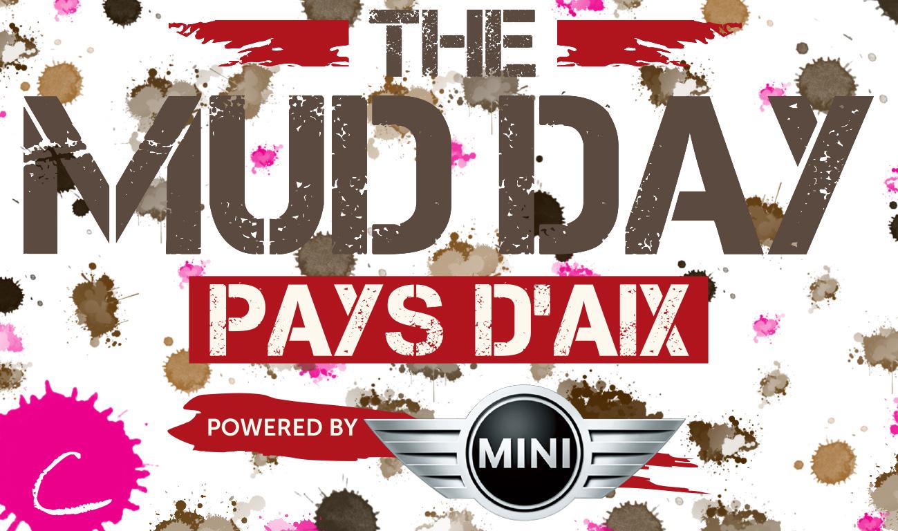 Une tâche rose dans la boue du Mud Day Pays d'Aix