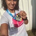 Nawel au Marathon de Nice-Cannes