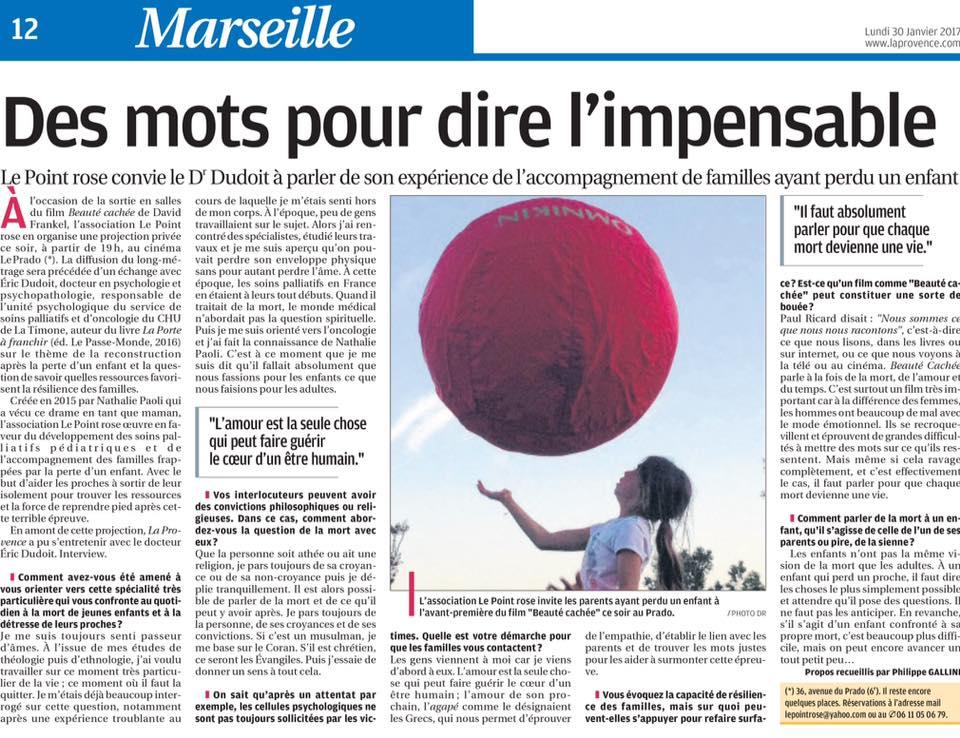 Eric Dudoit - La Provence 30 janvier 2017
