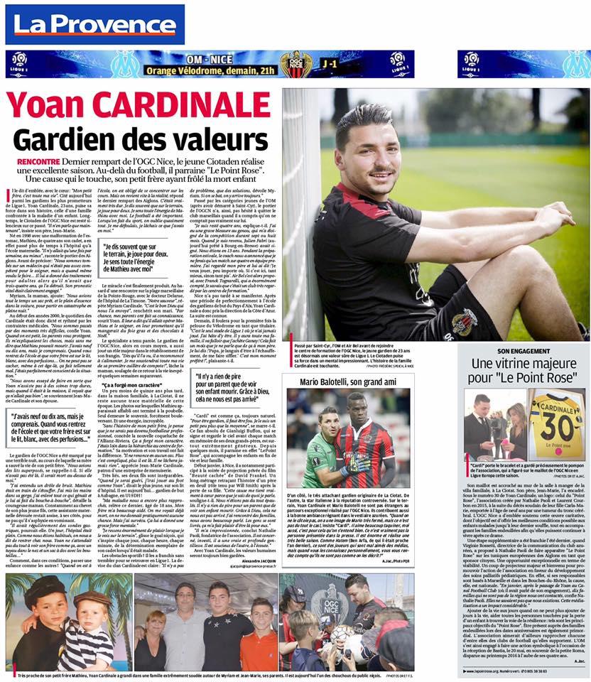 article Yoan Cardinale valeur