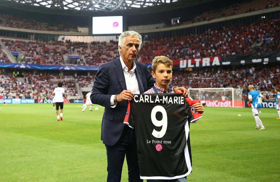 Le Point rose de Carla-Marie en Champions League avec Nice