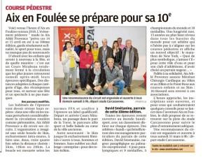 La Provence, 30 mars 2018