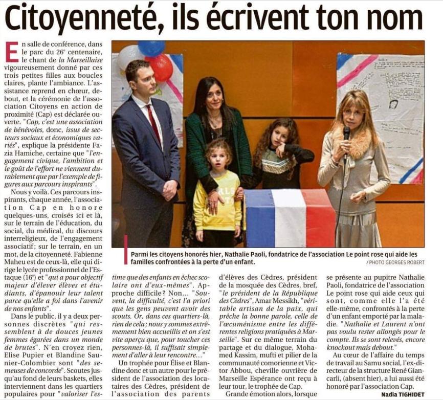 «Nathalie Paoli : des jours de vie en point de mire» – trophées CAP 2019