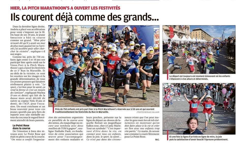 Run in Marseille 2018 – Marathoon's – La Provence, 18 mars 2019