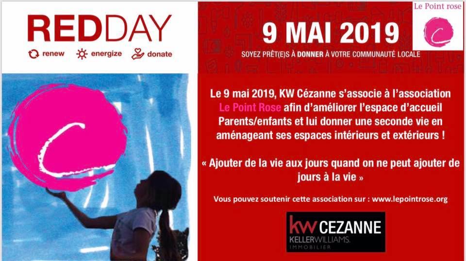 Un «Red Day» rose par l'agence immobilière Keller Williams Cézanne