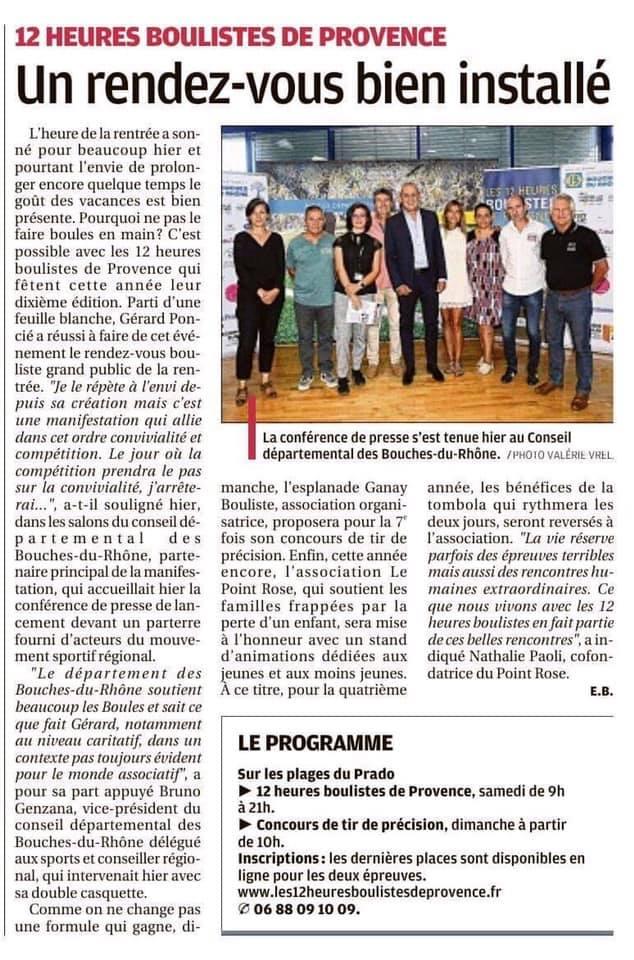 12h boulistes de Provence Le Point rose