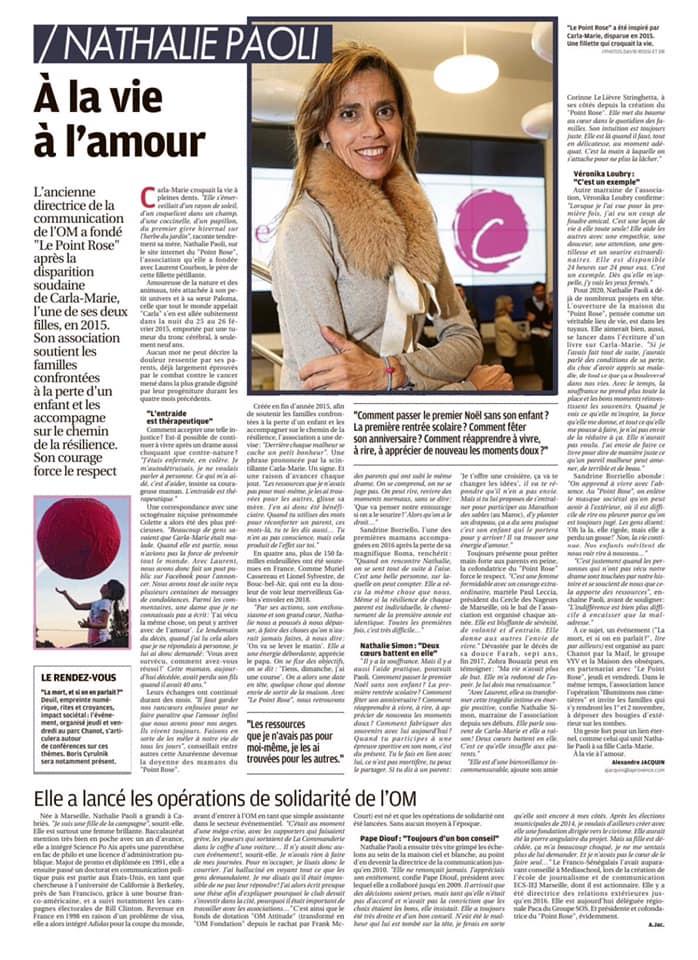 Nathalie Paoli Le Point rose la Provence 28 10 19