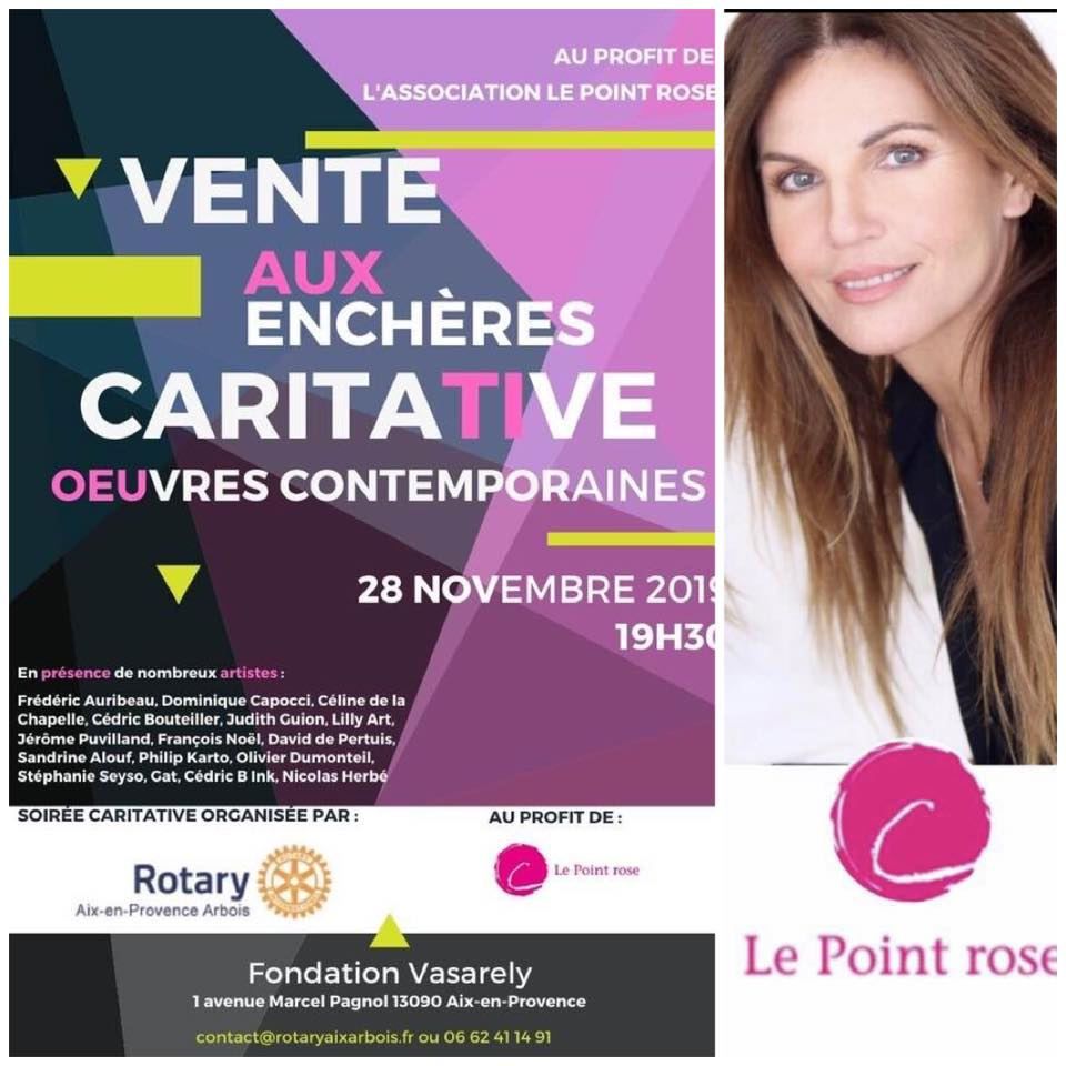 Vente aux enchères art contemporain Le Point rose
