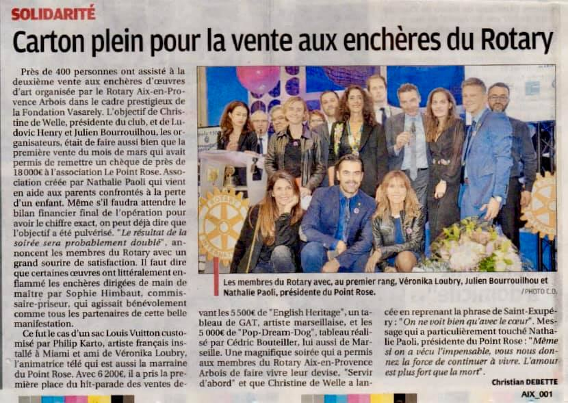La Provence Le Point rose 9 dec 2019