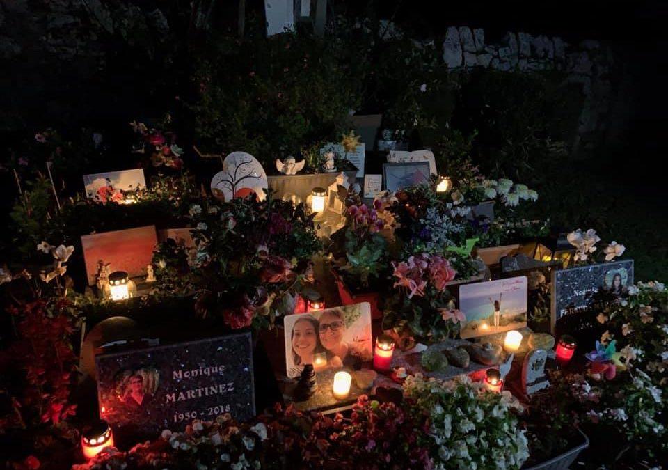 Illumination des cimetières à la Toussaint