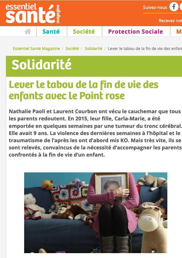 Le Point rose Essentiel Santé nov 20