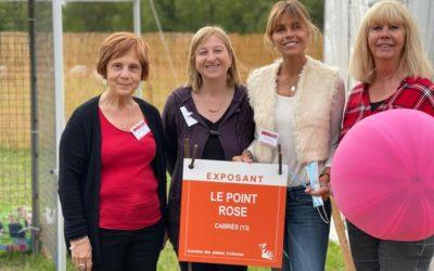 Le Stand du Point rose aux Journées des Plantes d'Albertas