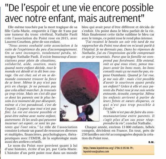 Un voiture et une cagnotte pour réparer les vivants – La Provence, 23 juillet 2021