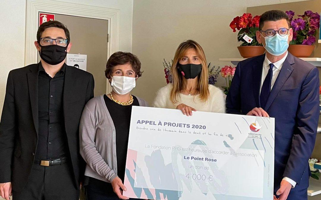 Don de la Fondation FPG, prix remporté par Le Point rose