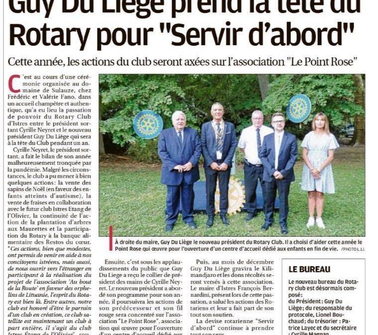 Le Rotary Istres soutient Le Point rose – La Provence, 15 juillet 2021