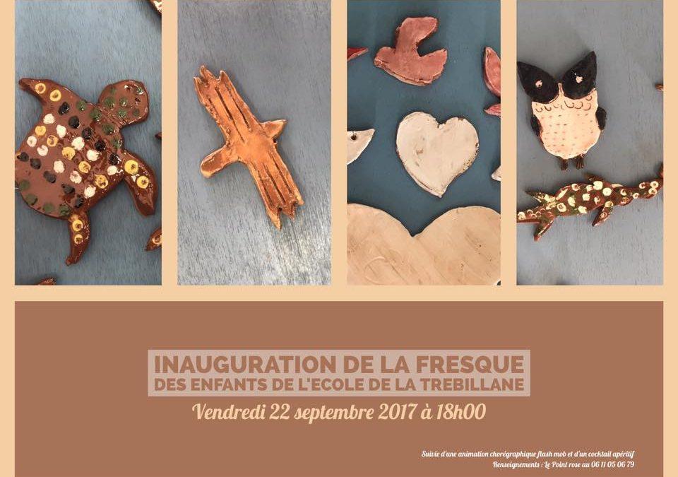 Inauguration de la fresque de l'école de la Trebillane à Calas (13)