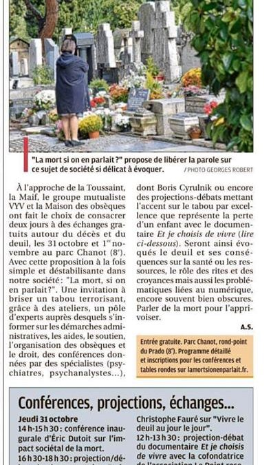 Colloque « La mort, si on en parlait » – La Provence, 27 octobre 2019