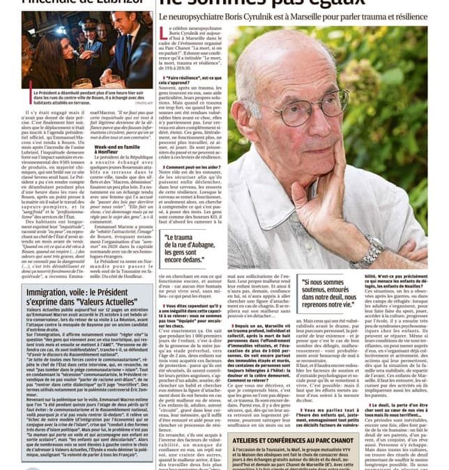 Boris Cyrulnik, Colloque La mort, si on en parlait – La Provence, 31 octobre 2019