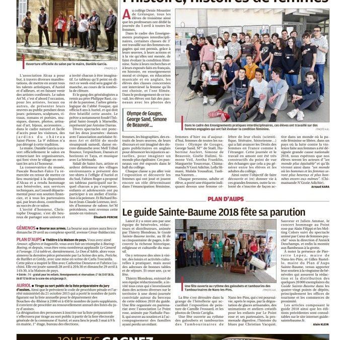 La Provence, 26 avril 2018