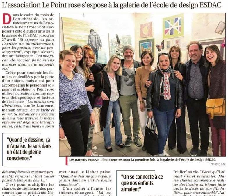 L'art-thérapie comme acte de résilience – La Provence – 22 avril 2019