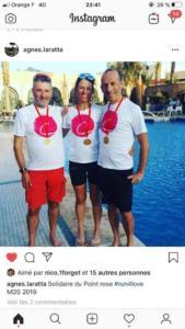 Agnes François et Laurent Marathon des sables 2019