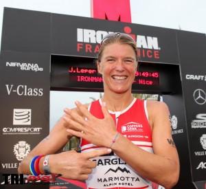 Tine DECKERS, 1ère féminine Ironman Nice 2016