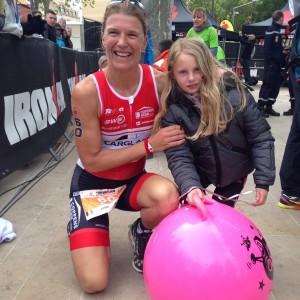 Tine Deckers (Belgique) 1ere féminine Ironman Pays d'Aix 2016